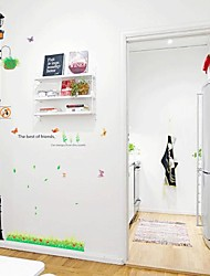Createforlife® Cartoon Lighthouse Butterflies Kids Nursery Room Wall Sticker Wall Art Decals