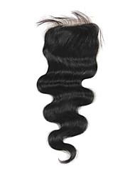 Haute Qualité cheveux brésilien dentelle Fermeture Carrosserie vague 10inch En stock