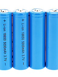 5000mAh 18650 Battery (4pcs) + 4 Pcs/Lot Hard Plastic Battery Storage Box for 18650 Battery
