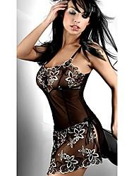 lencería sexy europeo demonio (negro)-q-56