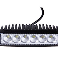 18W (6 * 3W Epsitar) 2650LM 6000K 4 di pollice dell'automobile LED Work Light Bar lampada di inondazione per SUV Truck DC9-32V