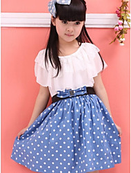 Girl's Black / Blue / Red Dress Chiffon Summer
