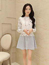Women's Casual / Lace Dress Mini Polyester / Lace
