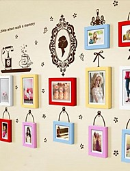 Quadro 4 cores Photo Set de 13 com adesivos de parede