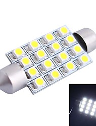 42mm 4W 200LM 6000K 16x3528 SMD White LED for Car Reading/License Plate/Door Lamp (DC12V, 1Pcs)