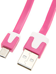 USB2.0 Male to Micro USB2.0 Male Cable(Assorted Color 200cm)