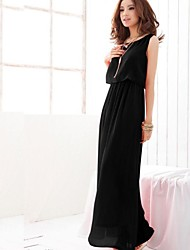 Women's Dresses , Chiffon Casual Sleeveless SIJIA