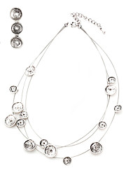 Circle Strand Necklace & Earrings Jewelry Set (colore casuale)