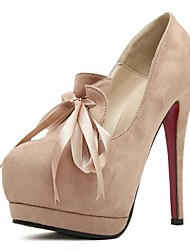Women's Stiletto Heel Platform Pumps/Heels With Bowknot Shoes (More Colors)