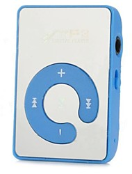 USB Rechargeable MP3 Player with Micro SD (Blue+Silver)