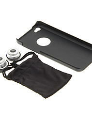 iPhone 5C Cell Phone Case and Fish Eye Wide Macro Silver Photo Lens in Set