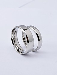European Simple Silver Titanium Steel Couple Rings /Promis Rings For Couples