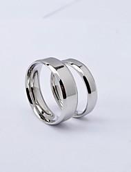 Ringe Runde Form Alltag / Normal Schmuck Titanstahl Paar Eheringe5 / 6 / 7 / 8 / 9 / 10 Silber