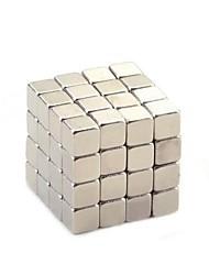 Haute Qualité 4mm 64 Pieces Argent Cube néodyme-fer-DIY Magcube
