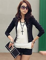 Women's Casual/Cute/Work Long Sleeve Jackets , Lycra Thin