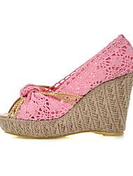 Lace Women's Wedge Heel Peep Toe Pumps Shoes(More Colors)