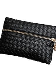 GMN Frauen schwarz Knit Überprüfen Handtasche (schwarz)