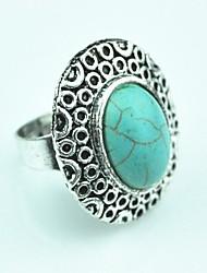 Toonykelly ® Vintage Donna Tibet anello della lega del turchese regolabile (Verde) (1pcs)