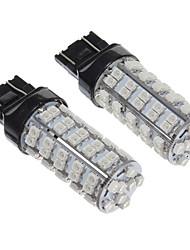 Ampoule T20 2W 68 LED 200LM jaune de lumière LED pour voiture (12V, 2pcs)