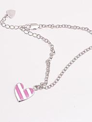 925 zilveren sieraden roze kauwgom mooie hart armband