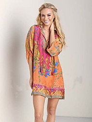 Women's Dresses , Chiffon Casual Scatti