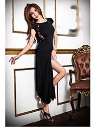 Women's Hollow Carv Sleeved Waist Halter Dress