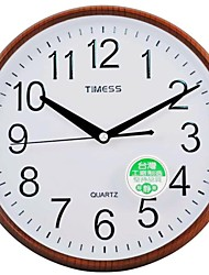 "Timess™ 9""H  Imitation Wood Grain Coating Raisde Scale Mute Wall Clock(Black)"