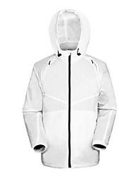 AMADIS Blanco Gris Chinlon manga larga Anti-UV Pesca Jacket