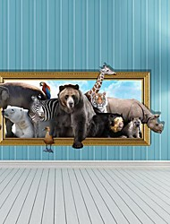3D The Animal pegatinas de pared Tatuajes de pared