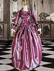 Purple Long Sleeves Elegant Lady's Victorian Ball Gown