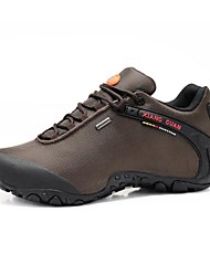 Men's Spring Summer Fall Comfort Nylon Outdoor Athletic Flat Heel Lace-up Black Brown Green Hiking