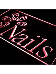 i553 OPEN Nails Beauty Salon Shop Neon Light Sign