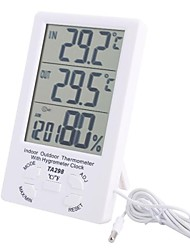 "4.4 ""LCD Indoor Outdoor Digitale temperatuur-vochtigheidsmeter met Probe"