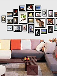 Schwarz Foto Wall Frame Collection Set von 26