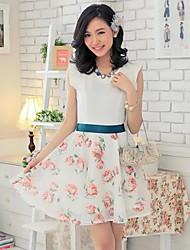 Women's 2WAY Rose Eugen Yarn  Dress Suit(Dress&Skirt)