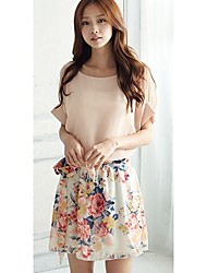 JINYI New Style Chiffon Fresh Dress With Belt
