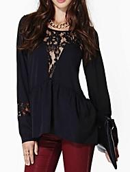 Kvinder round Collar Lace Shirt