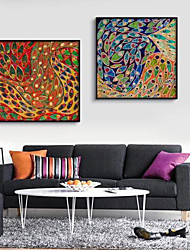 Sonho Colorido Abstract Art Canvas emoldurada Conjunto de 2