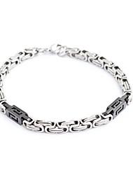 Titanium Black Steel-forme des hommes de mode et les bracelets à chaînes de Grand Puits