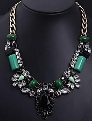 Women's Retro Emerald Necklace