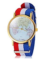 Unisex Terra Mapa Padrão Tela colorida Banda de pulso de quartzo (cores sortidas)