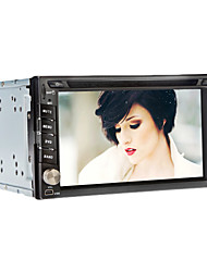 6,2 pollici 2Din In-Dash Car DVD Player con BT, GPS, DVD, FM, iPod, RDS, TV