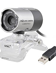 HD Webcam Aoni 8,0 mégapixels HD Camera Lens Digital Video Web caméra pour ordinateur portable et de bureau