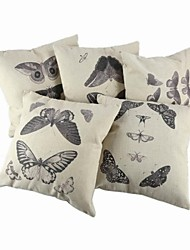 Cotton / Linen Pillow Cover / Pillow With Insert , Animal PrintCasual / Traditional/Classic / Outdoor / Antique / Retro /