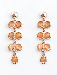Feminino Europa Refinamento Noble Gemstone Stud (laranja)