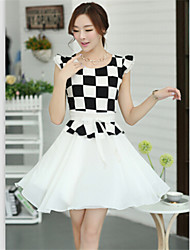 Women's Dresses , Chiffon Casual RAIN