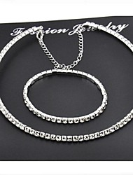 Jewelry Set Women's Party Jewelry Sets Alloy / Rhinestone Rhinestone Necklaces / Bracelets Silver