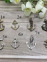 18 * encantos liga de 15 milímetros de âncora pingentes de jóias diy (10pcs, cores sortidas)