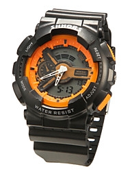 Men's Watch Quartz Sport Watch LCD / Calendar / Chronograph / Dual Time Zones Band