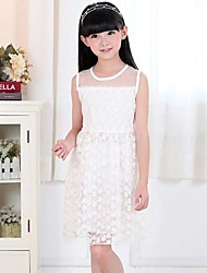 Kid's Dress , Cotton/Lace Lace/Cute Momlook